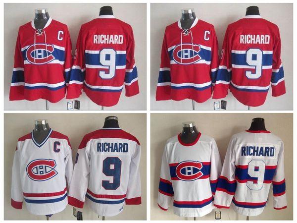 29b76eb5386 Best Quality 1946 Maurice Richard Montreal Canadiens Hockey Jerseys CCM  Vintage White Mens  9 Maurice