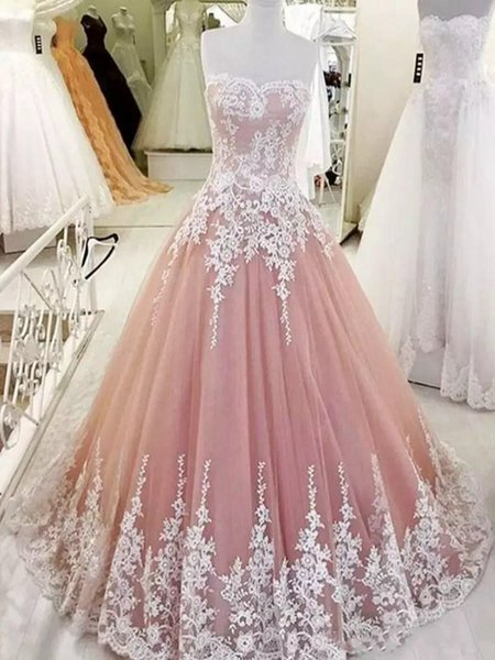 2020 Sexy Sweetheart Lace Appliques Prom Dresses Custom Lace Up Back Women Evening Party Gowns Special Occasion Party Gowns