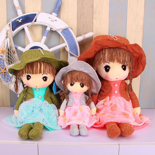 Straw Hat Phyl Lovely Princess Lint Toys Girl Cloth A Doll Wedding Boy Birthday Gift