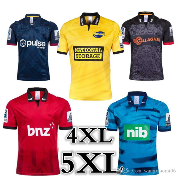 top popular 2019 CRUSADERS HURRICANES CHIEFS HIGHLANDERS BLUES SUPER RUGBY JERSEYS HOME RUGBY JERSEYS size : S-5XL Top quality free shipping 2019