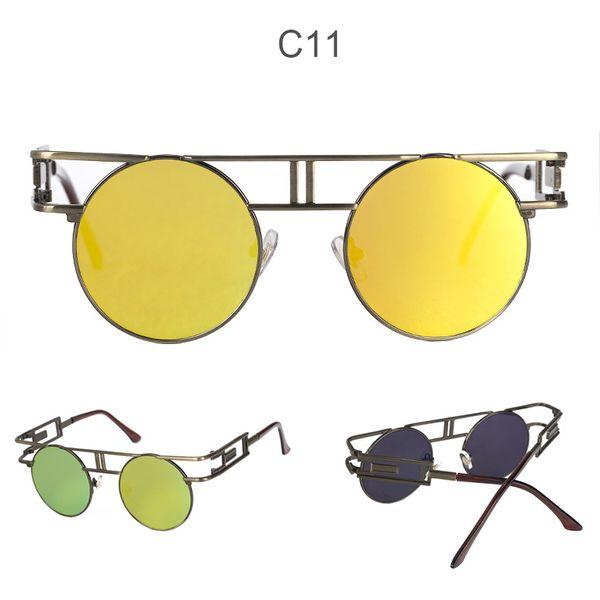 Miroir C11 en laiton doré