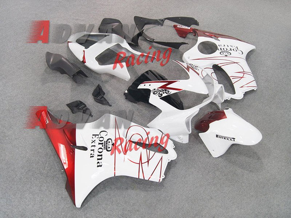 Novos Carrocerias ABS Carrocerias para HONDA Injecção CBR 600 F4i FS 01 02 03 CBR600 2001 2002 2003 carenagem corona preta personalizada