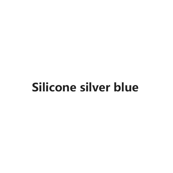 bleu argent silicone