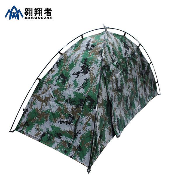 Ultralight Portable Waterproof Windproof Moisture proof One Person Singly Layer Camouflage Three-season Outdooor Camping Tent