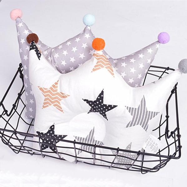 ideacherry Baby Shaping Pillow Prevent Flat Head Infants Crown Dot Bedding Pillows Newborn Boy Girl Decoration Accessories 0-24
