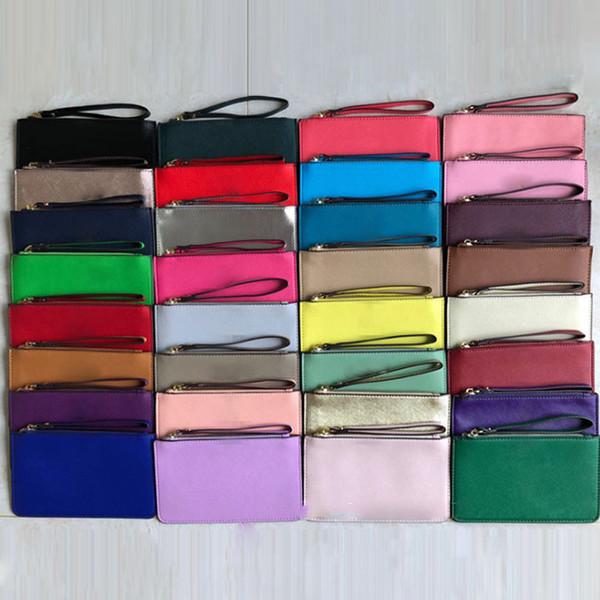 best selling Women KS PU Leather Wallets Wristlet Purses Zipper Clutch Bag Outdoor Travel Bags Handbags DHL Shipping