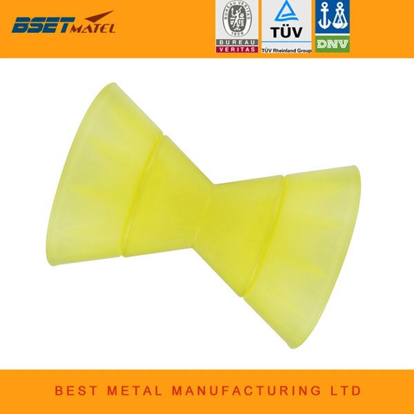 Ultimate 180 Yellow Poly Urethane Bow Roller Stop Rollers Bateau Marine Trailer Oreilles Attache 1/2