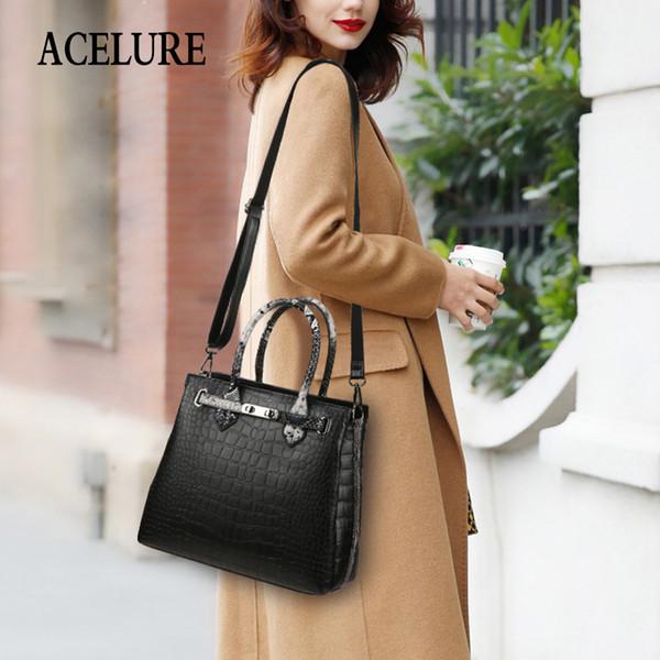 good qualityNew Bucket Type Handbag Solid Color Stone Pattern Shoulder Bag Portable Large Capacity Female Bag Crossbody Bags Totes