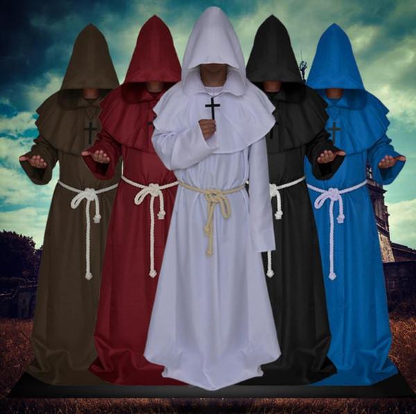 Halloween costume cosplay monaco vestito medioevale monaco veste costume strega prete vestito Christian suitCross corda www xxx com