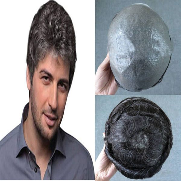 100% hand-knitted human wig, specially tailored for men, dark and bright, high quality hair, thin and breathable, comfortable to wear.TKWIG