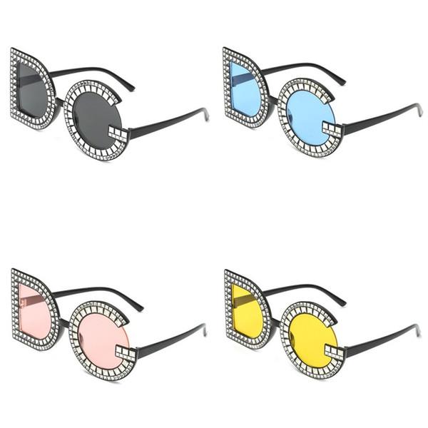 DG Letra Mulheres Óculos De Sol Homem Rua Pat Sunglass Moda Retro Plástico Eyewear Azul Amarelo Preto de Alta Qualidade 3qt D1