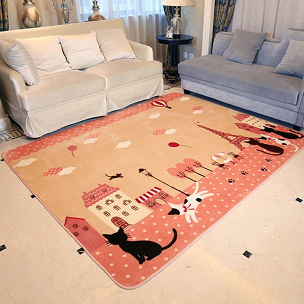 New Fashion Coffee Table Hallway Bedroom Carpet Non-Slip Door Mats Living Room Carpet Cartoon Children Crawling Mat Rug130X185CM