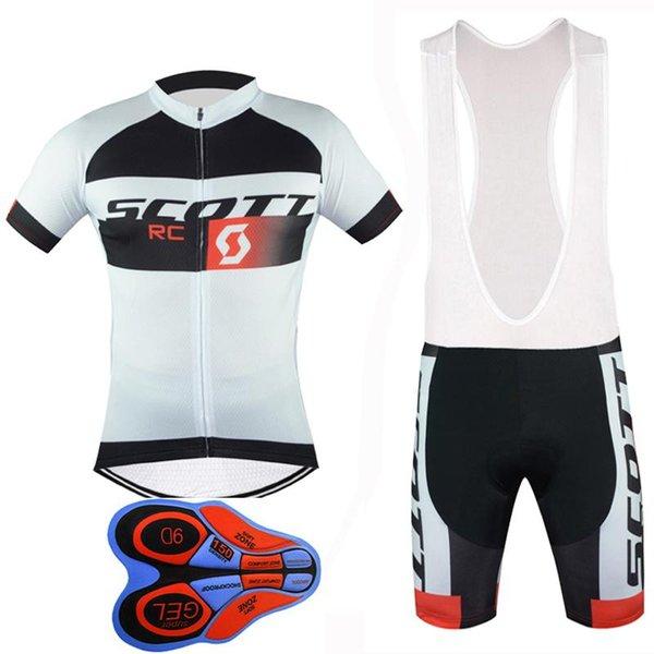 Al aire libre de la bicicleta 2017 de Scott Nueva manga corta ciclismo jerseys 9D Gel cortos babero que acolchada Verano Estilo Mtb Ciclismo Maillot K52352
