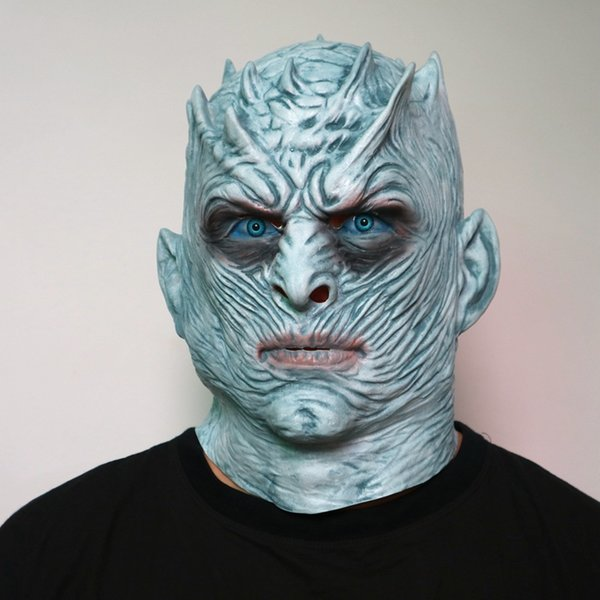 Mask Night King Zombie Latex Mask Cosplay Costume Masquerade Party Full Face Horror Halloween