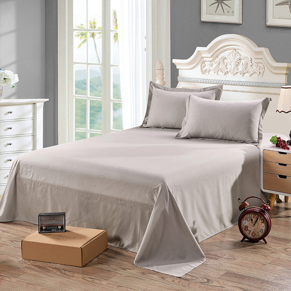 Bed Sheet Without Pillowcase Pure Bed Linen Queen Size Mattress Covers Flat Sheet Sets With Elastic For King Size