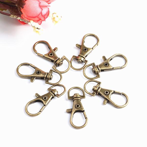 50 Stück Schlüsselanhänger mit breiter Kette Schlüsselringe Clip