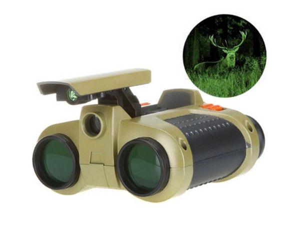 Sale Top Fashion 1pc 4x30 Binocular Telescope Pop-up Light Night for Vision Scope Binoculars Novelty Children Magnification Toy Gifts K2656