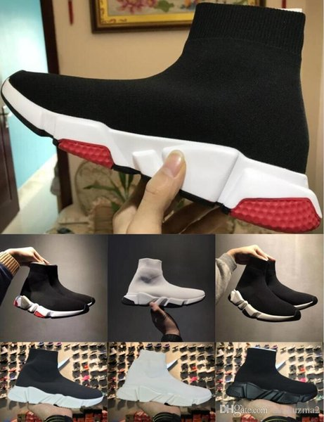 2019 nova moda Meias Sapatos Speed Trainer confortáveis Sapatos Casual Sneakers raça para mulheres dos homens sapatos ao ar livre 36-47