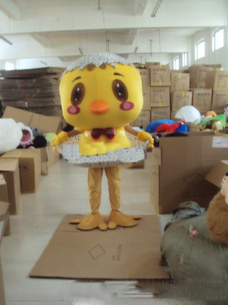 2019 Hot sale new little yellow chicken Plush Cartoon Character Costume mascot Custom Products customized Wholesale FREE SHIPPING