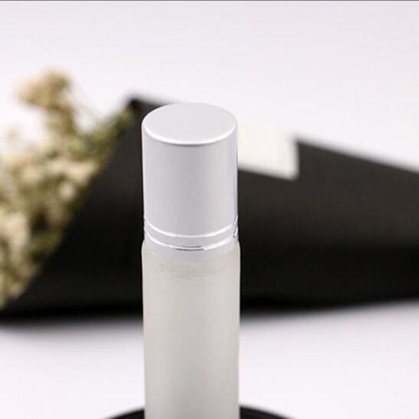 Mehrwegflaschen / Walk Bead Glas Mehrwegkugelflaschen Öle Mattierungsglas Roll On 10ml leer Duft Duft ätherisches Öl Diffusoren-p