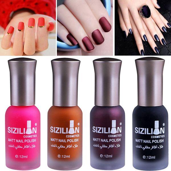 best selling 12ml   18ml Matte Dull Nail Polish Fast Dry Long Lasting Nail Art Matte Polish Gel Professional Nail Art