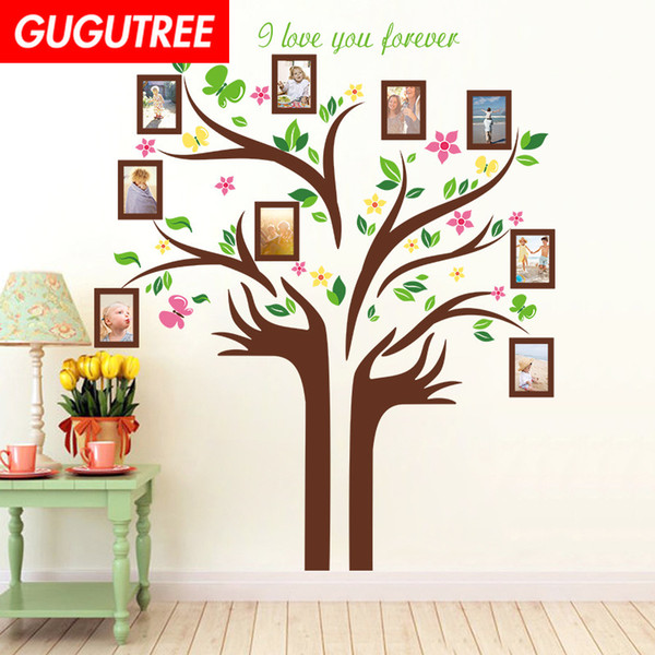 Decorate Home photo trees cartoon art wall sticker decoration Decals mural painting Removable Decor Wallpaper G-1589