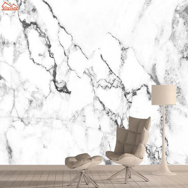 Белый Мраморный Обои для Гостиной Обои Обои Бумаги Home Decor 3d Природа Обои Росписи Кожи и Палки Фрески Rolls Art
