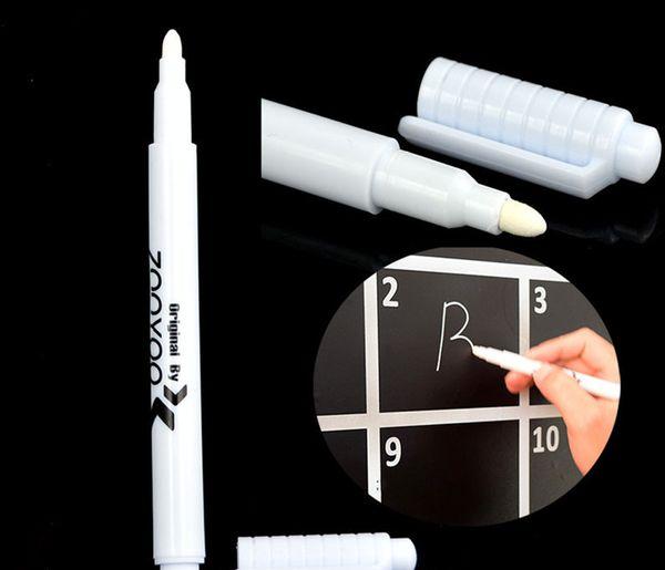 top popular 10 Pcs White Liquid Chalk Pen Marker Glass Windows Chalkboard Blackboard Liquid Ink Pen Used on Chalkboard Window White Pen 2020