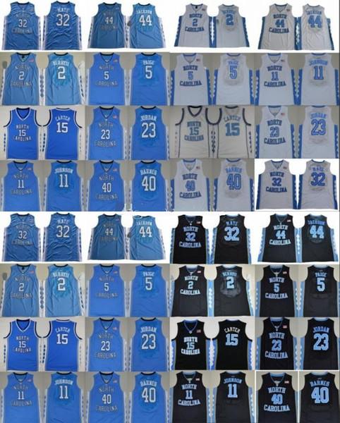 NCAA Carolina do Norte Tar Heels colégio basquete jersey Michael Nassir Pequeno Vince Carter Luke Maye Baga Barnes Paige UNC costurado uniforme
