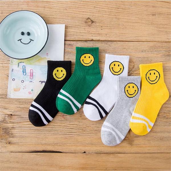 Must-have Baby Boys Summer Kids Knee Socks Spring Smile Navy Children Socks Cotton Elastic Girls Striped Breathable Casual Sports Kids Socks