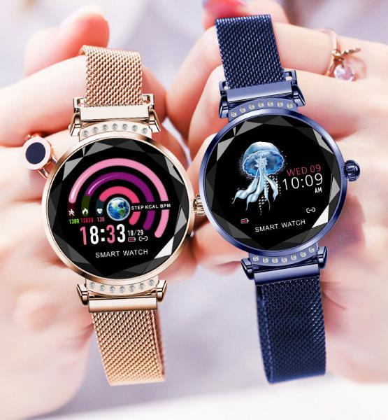 Colorful Screen Smart Watch Women Continuous Heart Rate Dynamic UI Ladies Fashion Health WeChat Sports Smart Reminder