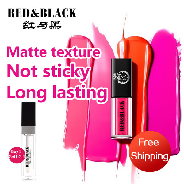 Red&black Lips Makeup 1 Pcs Matte Lip Gloss Maquiagem Brand Matt Liquid Lipstick Make Up Cosmetics Mate Batom Beauty Lipgloss