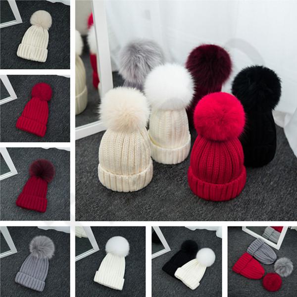 6 Color Women's Knitted Cap Autumn Winter Men Cotton Warm Hat Skullies Brand Heavy Hair Twist Beanies Solid Color Wool Hats 10pcs T1C437