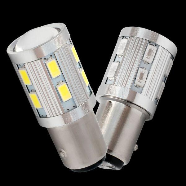 4x brake bulb bright Car led 1157 BAY15D P21/5W LED S25 5630 5730 Motorcycle Rear Brake Light Bulbs Taillights DRL White Yellow Red 12V