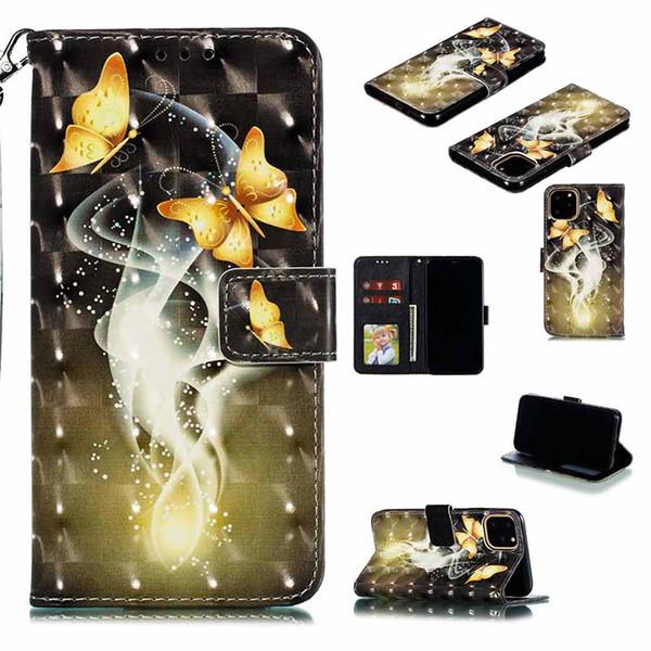 Custodie in pelle fiore Butterfly Girl vibrazione di PU carino per iPhone di Apple 11 Card wallet stand Slot Case for iPhone X XS XR MAS 6 7 8 6s più