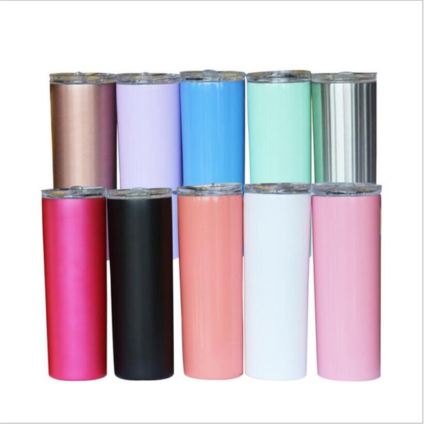 best selling Water Bottle Insulated Tumbler Straight Thermos Cups Stainless Steel Vacuum Beer Coffee Mug Lids Straws 20Oz Double Layer Drinkware C6854