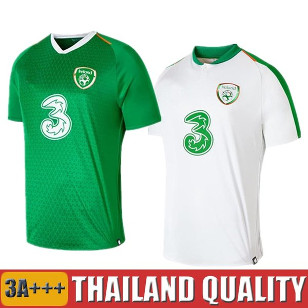 size 40 abc57 67cf1 2019 Top Thailand 2018 2019 Ireland Soccer Jerseys Republic Of Ireland  National Team Jersey 18 19 Home Away Football Kit Soccer Shirt Green From  ...