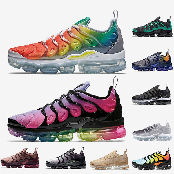 Hot fashion TN Plus Running Shoes Rainbow BETRUE Smokey Mauve Game Royal Grape Fades Blue mens shoes women designer sports shoes 36-45