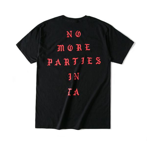 kanye west Camisetas con estampado de letras de verano Hip Hop Camisetas de manga corta en blanco y negro Camisetas de diseño