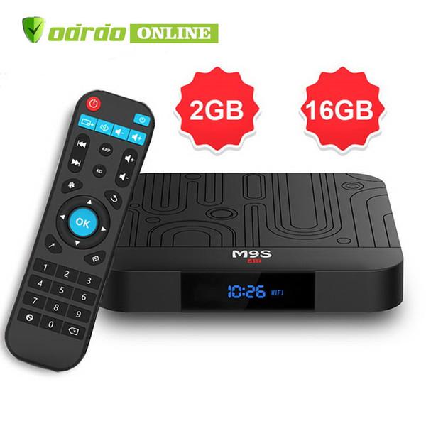 Best selling M9S W1 android 7.1tv box Quad Core 2GB 16GB Amlogic S905W Streaming Media Player Smart tv HD 4K WiFi Set Top Box Better HK1 Max