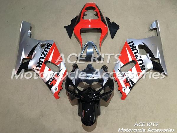 New Hot Kits de Carenagem de moto de Plástico ABS 100% Apto Para suzuki GSXR600 GSXR750 2001 2002 2003 GSXR600 GSXR750 01 02 03 Várias cores NO.F4