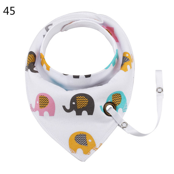 INS cotton Baby bibs with Pacifier Clip Hole for baby boys girls Wholesale 50pcs