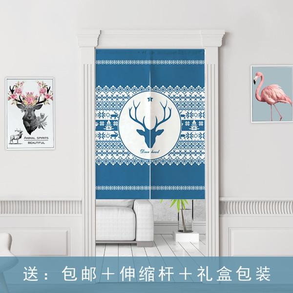 Elk porte Rideau pour la personnalisation de Noël de moitié rideau de porte en tissu pour l'impression de séparation Cuisine Chambre