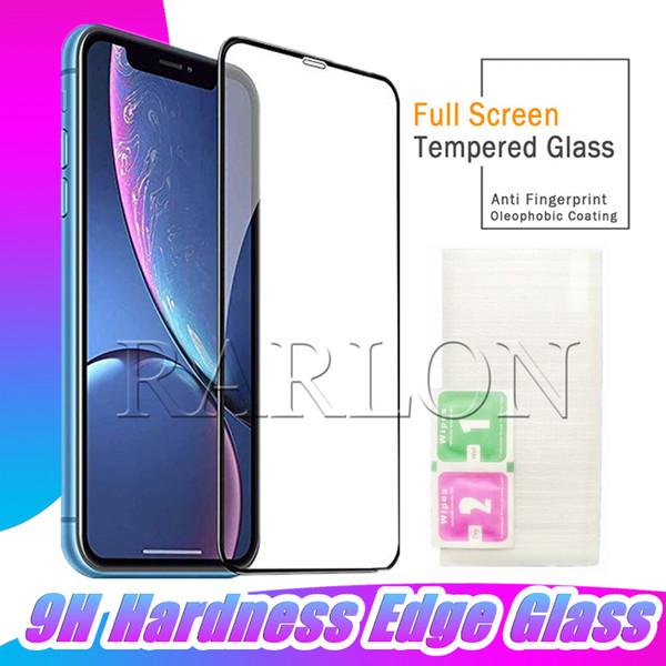 Nuevo protector de pantalla de pegamento completo Cristal templado Anti-Impacto Cobertura completa Flexible Dureza 9H para iPhone XR XS MAX X 8 7 6S Plus