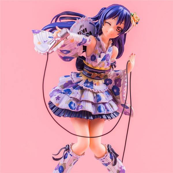 21CM PVC Anime Love Live Sonoda Umi Kimono Dressing Action Figure colecionáveis Modelo Brinquedos Presentes