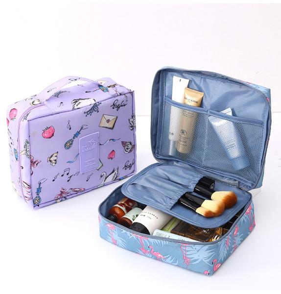 Multi-função de Oxford Viagem Cosmetic Bag Neceser Mulheres maquiagem Sacos Artigos de higiene pessoal Organizer Armazenamento Feminino Make Up Cases