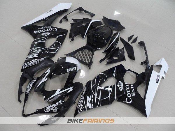 Nueva motocicleta ABS Kits de carenados aptos para SUZUKI GSXR1000 K5 05-06 GSXR GSX R1000 GSX-R1000 K5 05 06 2005 2006 Conjunto carenado corona