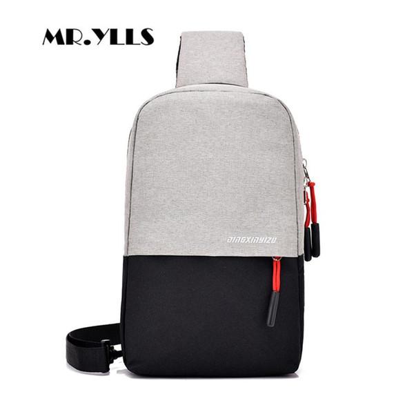 External Charging Earphone Plug Men Chest Bag Oxford Waterproof Men Messenger Bag Business Style Multifunction Males Chest Bags