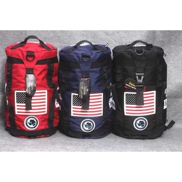 Sup 17ss Big Mochila Junior Boys Girls Travel Bucket Bag The North Mochilas Supre Joint Face Impermeable Duffle Bags Fashion Totes C81301