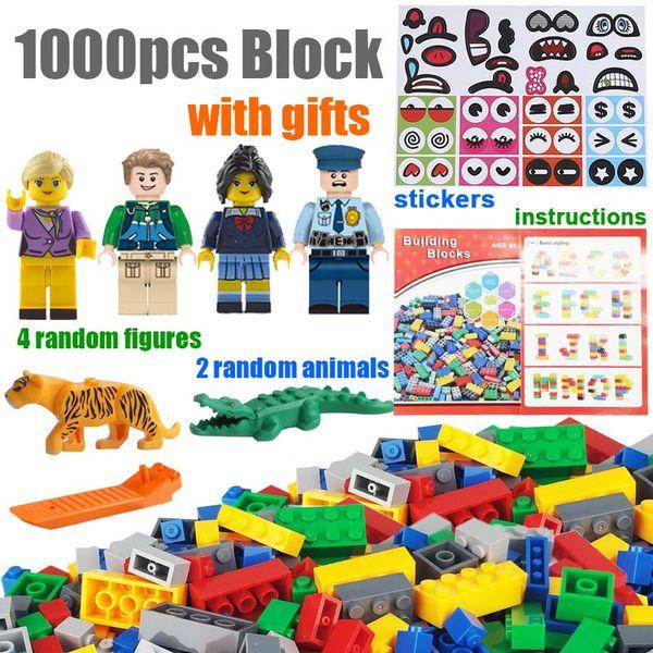 1000pcs DIY Technic City Creator House Designer Part Bulk Pack Construction Model Classic Creative Brick Building Block Set Educational Toy